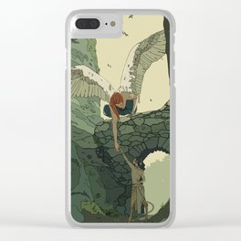 The Angel and Fawn Clear iPhone Case