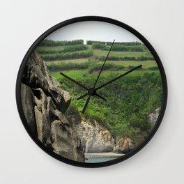 Azores Praia dos Moinhos Wall Clock