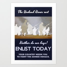 Anti Zombie poster from 1914. Art Print