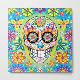Sugar Skull Art (Jubilee) Metal Print