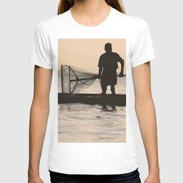 Indian Fisherman on Lake T-shirt