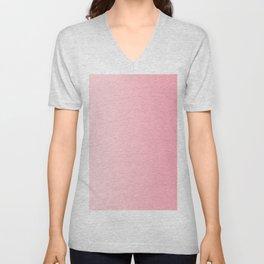 Pastel Pink to Pink Vertical Linear Gradient Unisex V-Neck