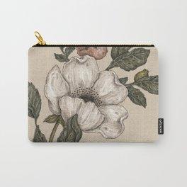 Floral Laurel Carry-All Pouch