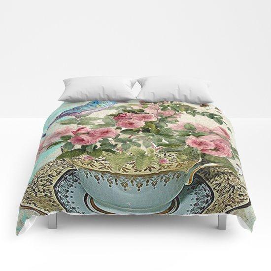 Tea Flower #1 Comforters