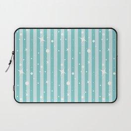 Blue Christmas Glitter Stripes Laptop Sleeve