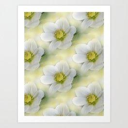 flowers -10- seamless pattern Art Print