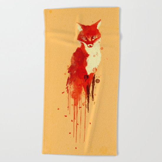 The fox, the forest spirit Beach Towel