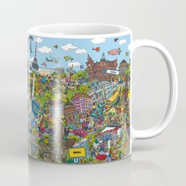 Illustrated map of Berlin Coffee Mug