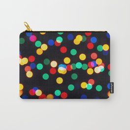Bokeh Lights On a Black Background Carry-All Pouch