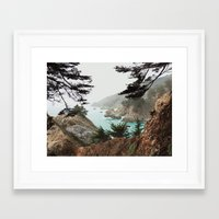 big sur Framed Art Prints featuring Big Sur by Kyle Meck