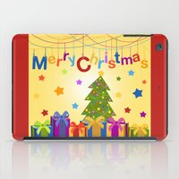 merry christmas iPad Cases featuring Merry Christmas by itsme.emi