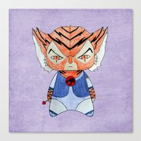 thundercats Canvas Prints featuring A Boy - Tygra (Thundercats) by Christophe Chiozzi