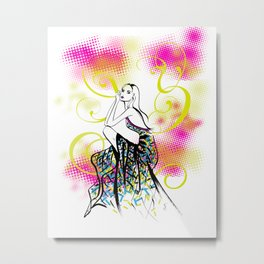 Summer Fashion Metal Print