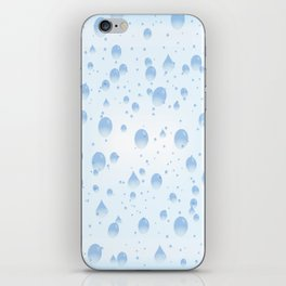 Water drops with background iPhone Skin