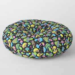 Shroomin Blacklight Floor Pillow