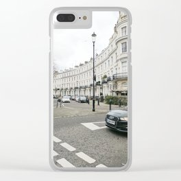 February Morning at the Royal Crescent, London Clear iPhone Case