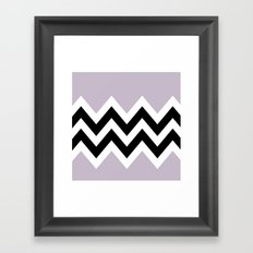 LIGHT PURPLE COLORBLOCK CHEVRON Framed Art Print