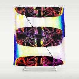 Power Rings Shower Curtain
