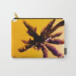 Palm Trees In Pineapple Gold Sunrise Tropical Sky Carry-All Pouch