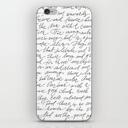 Script Text Book Page Letter iPhone Skin