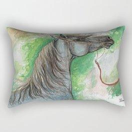 Arabian horse on a leash Rectangular Pillow