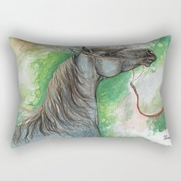 Arabian horse on a leash Rectangular Pillow