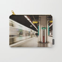 Fast train at the station Carry-All Pouch