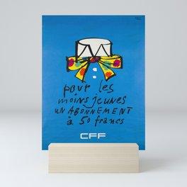 Nostalgia cff pour les moins jeunes un abonnement a 50 francs cff sbb Mini Art Print