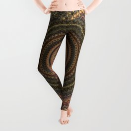 Vintage Bohemian Mandala Textured Design Leggings