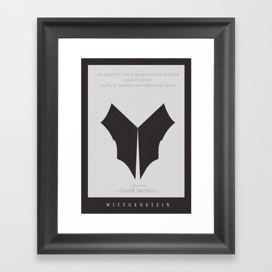 Wittgenstein Movie Poster Framed Art Print