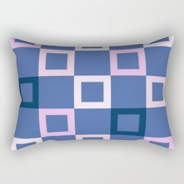 Pink White and Blue Boxes Rectangular Pillow