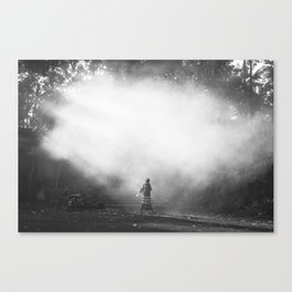 Morning at the Balinese Temple Canvas Print