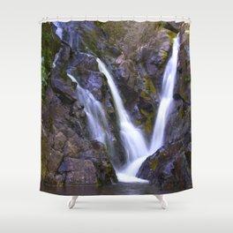 Purple Waterfall Shower Curtain