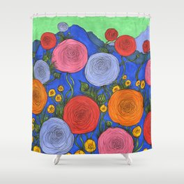 Colors in the Blue Ridge Mountains Shower Curtain