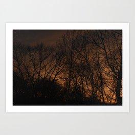 Fire in the Western Sky Art Print