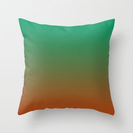 EARTH & NATURE Rust Green ombre pattern  Throw Pillow