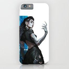 Cyberpunk Warrior Girl Cyborg Pattern Ornament  iPhone Case