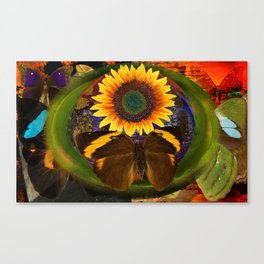 Butterfly and the Flower Canvas Print