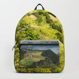 lime green landscape Backpack