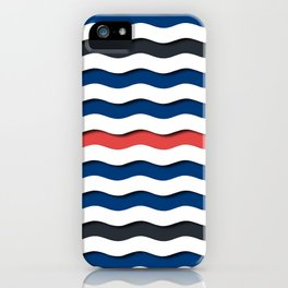 wave life pattern iPhone Case