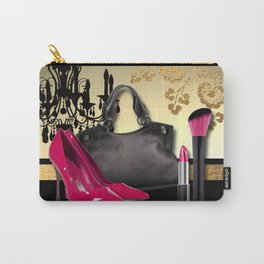 Chandelier Handbag Pumps Cosmetics Fashion Collage Carry-All Pouch