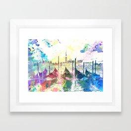Venezia, gondole - Italy Framed Art Print