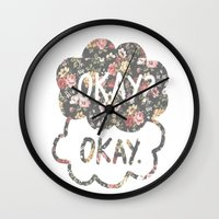 tfios Wall Clocks featuring OKAY?OKAY THE FAULT IN OUR STARS TFIOS HAZEL AUGUSTUS CLOUDS #2 by monalisacried