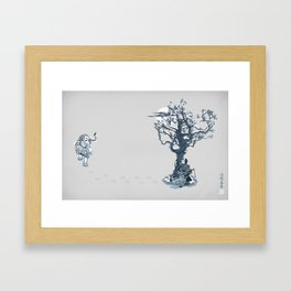 Winter Hunt Framed Art Print