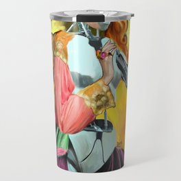 An Android in Nature Travel Mug