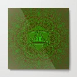 Natural 20 Mandala Woodland Stride Metal Print