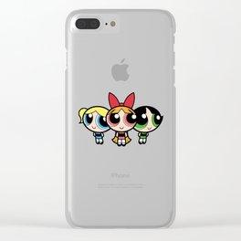 powerpuff girls Clear iPhone Case