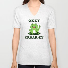 Okey Croak-ey Unisex V-Neck