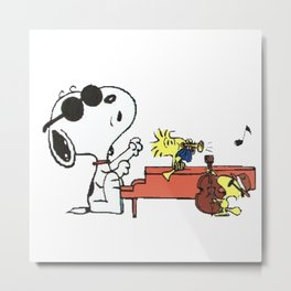 play music group snoopy Metal Print
