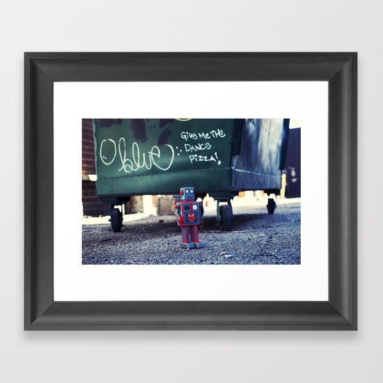 Give me the DANCE pizza Framed Art Print